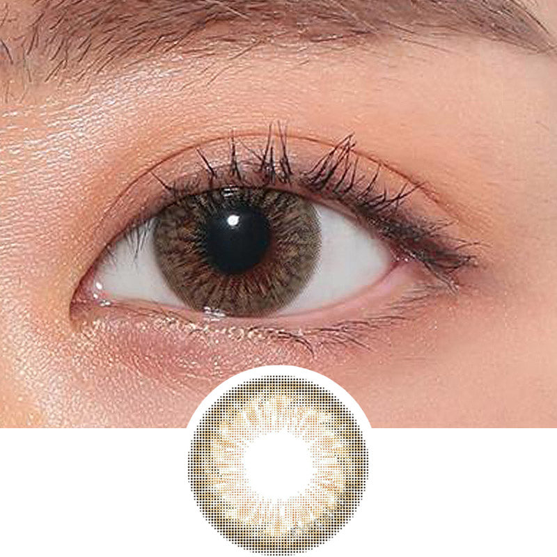 Hapa Kristin Dope Kristin Brown colored contacts circle lenses - EyeCandy's