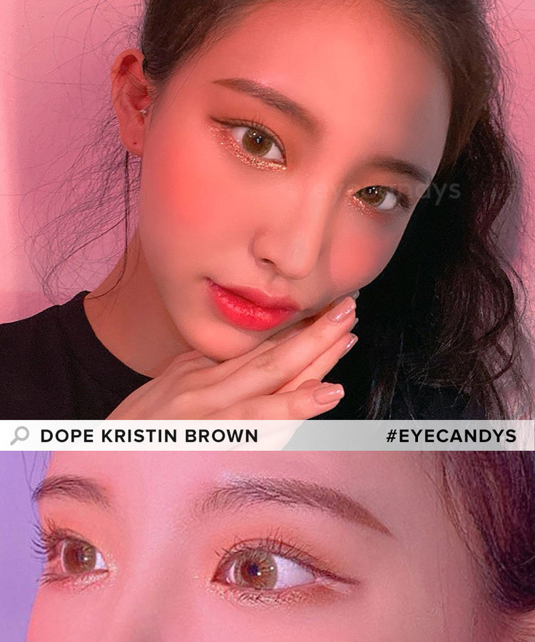 Buy Hapa Kristin Dope Kristin Brown Coloured Contact Lens | EyeCandys