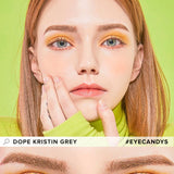Hapa Kristin Dope Kristin Grey colored contacts circle lenses - EyeCandy's
