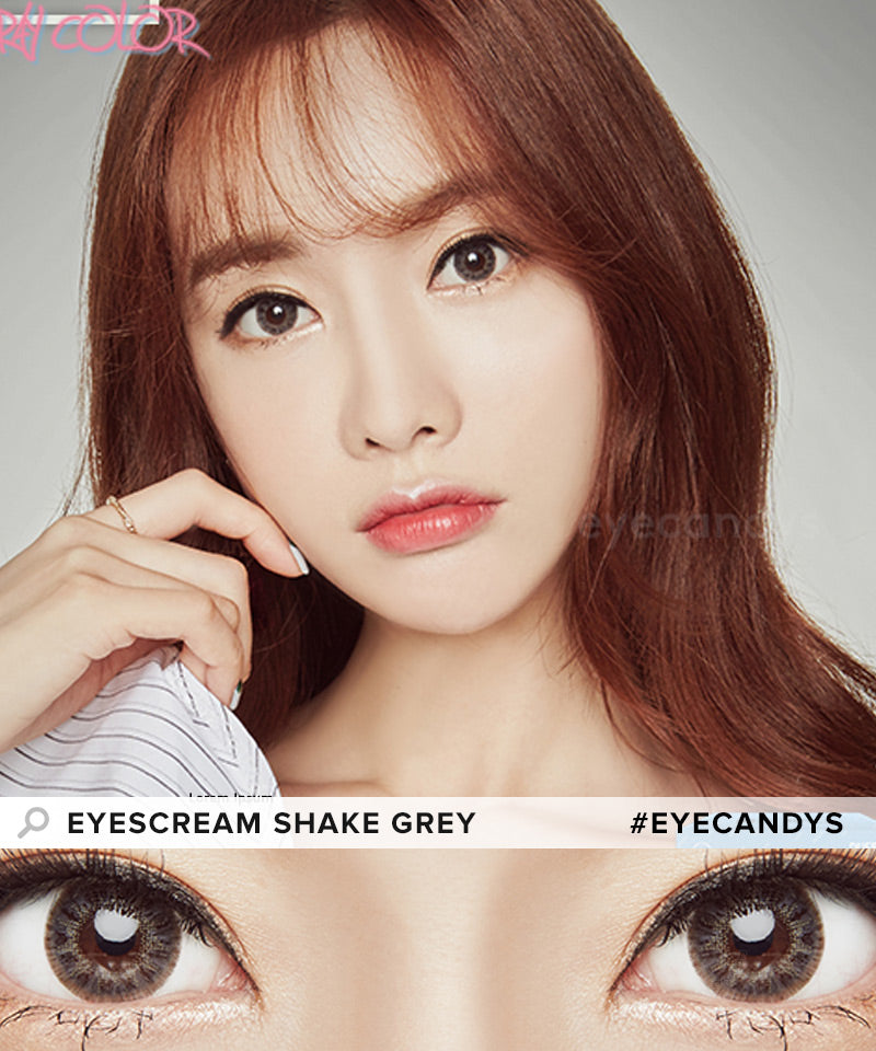 Dueba Eyescream Shake Grey colored contacts circle lenses - EyeCandy's
