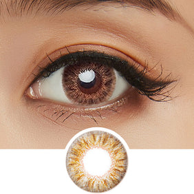 Dueba Eyescream Shake Brown colored contacts circle lenses - EyeCandy's