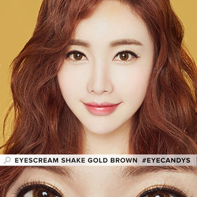 Dueba Eyescream Shake Gold Brown colored contacts circle lenses - EyeCandy's