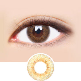 Dueba Eyescream Winki Brown colored contacts circle lenses - EyeCandy's