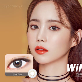 Dueba Eyescream Winki Grey colored contacts circle lenses - EyeCandy's