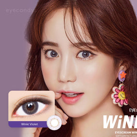 Dueba Eyescream Winki Violet colored contacts circle lenses - EyeCandy's