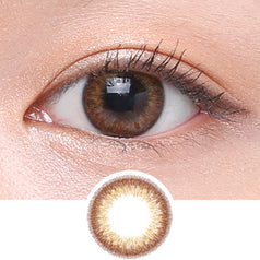 Clalen Iris M Emma Brown colored contacts circle lenses - EyeCandy's