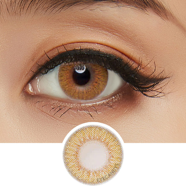 Lens Nara Lady Girl 2 Brown colored contacts circle lenses - EyeCandy's