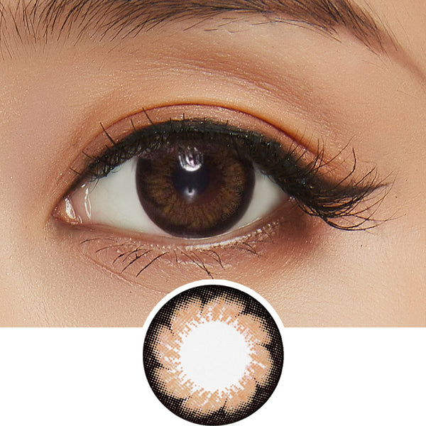 EyeCandys Pink Label Blossom Brown colored contacts circle lenses - EyeCandy's