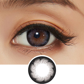 EyeCandys Pink Label Blossom Grey colored contacts circle lenses - EyeCandy's