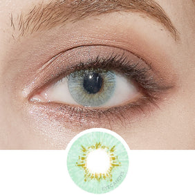 EyeCandys Pink Label Dewy Aqua colored contacts circle lenses - EyeCandy's