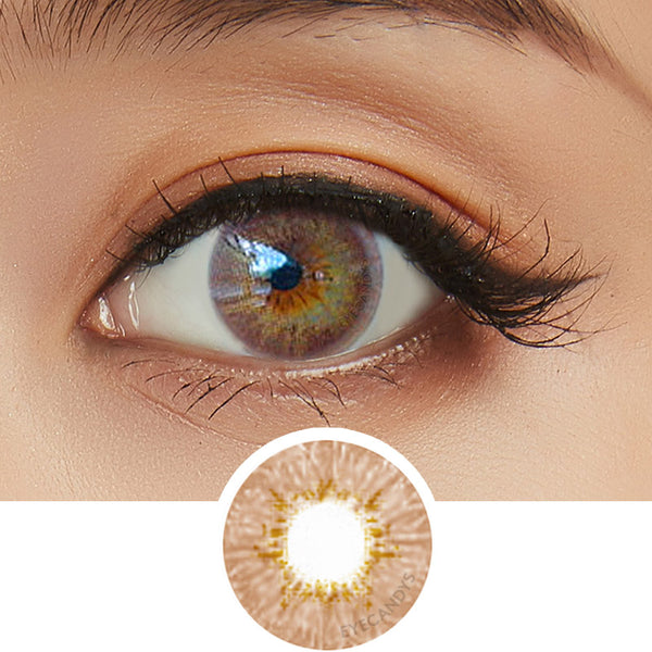 EyeCandys Pink Label Dewy Brown colored contacts circle lenses - EyeCandy's