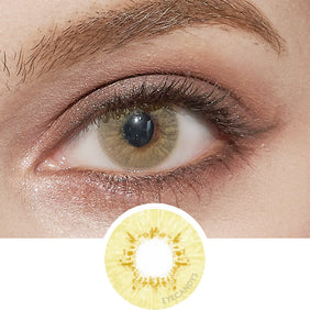 EyeCandys Pink Label Dewy Hazel colored contacts circle lenses - EyeCandy's
