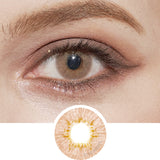 EyeCandys Pink Label Dewy Honey colored contacts circle lenses - EyeCandy's