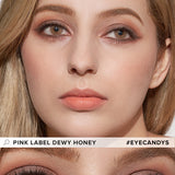 Load image into Gallery viewer, EyeCandys Pink Label Dewy Honey colored contacts circle lenses - EyeCandy's