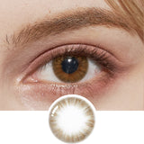 EyeCandys Pink Label Flirty Choco colored contacts circle lenses - EyeCandy's