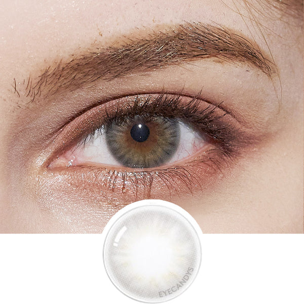 EyeCandys Pink Label Flirty Grey colored contacts circle lenses - EyeCandy's