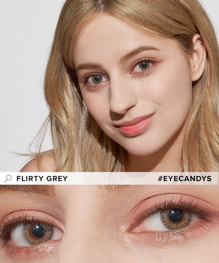 Buy EyeCandys Flirty Grey Color Contacts | EyeCandys
