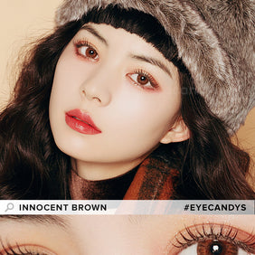 EyeCandys Pink Label Innocent Brown colored contacts circle lenses - EyeCandy's