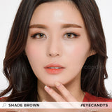 EyeCandys Pink Label Shade Brown colored contacts circle lenses - EyeCandy's