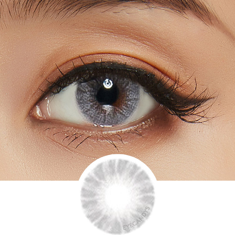 EyeCandys Pink Label Shade Grey colored contacts circle lenses - EyeCandy's
