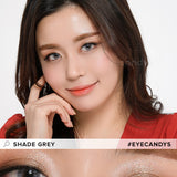 Load image into Gallery viewer, EyeCandys Pink Label Shade Grey colored contacts circle lenses - EyeCandy's