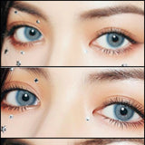 Load image into Gallery viewer, EyeCandys Glossy VG Blue colored contacts circle lenses - EyeCandy's