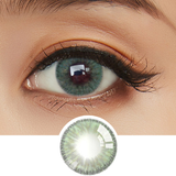 Load image into Gallery viewer, EyeCandys Whimsy Green colored contacts circle lenses - EyeCandy's