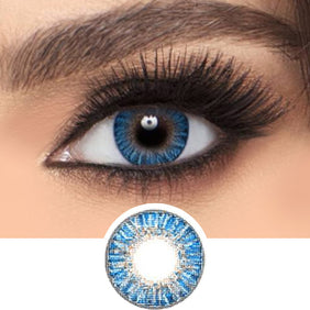 Freshlook Colorblends True Sapphire colored contacts circle lenses - EyeCandy's