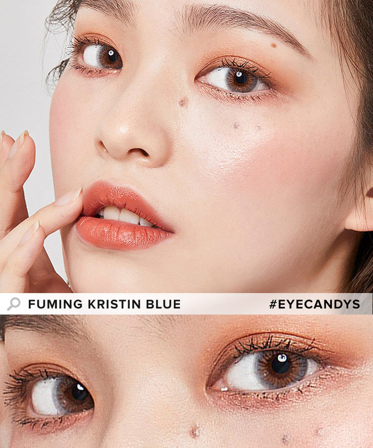Buy Hapa Kristin Fuming Kristin Blue Coloured Contact Lens | EyeCandys