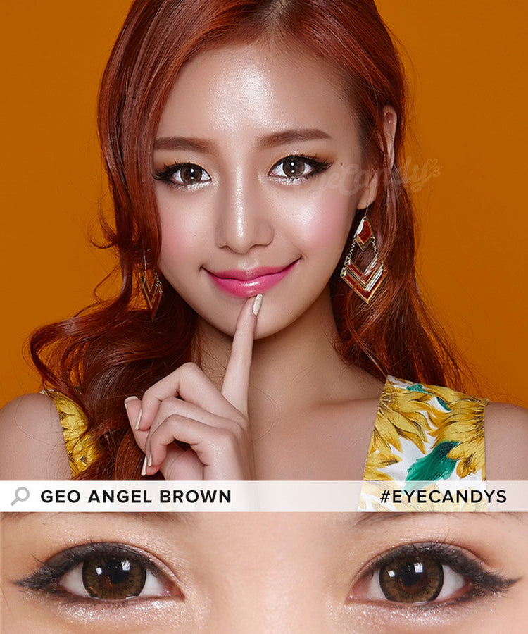 Buy GEO Angel Brown Colored Contacts | EyeCandys