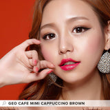 GEO Cafe Mimi Cappuccino Brown colored contacts circle lenses - EyeCandy's