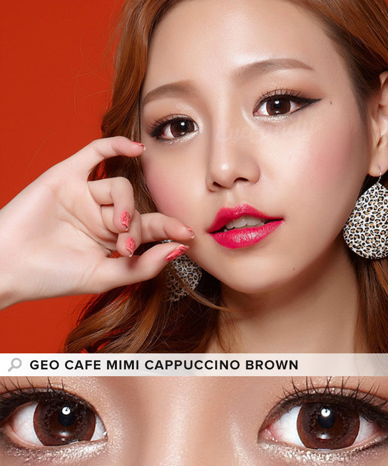 Buy GEO Cafe Mimi Cappuccino Brown Colored Contacts | EyeCandys
