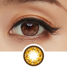 GEO Cafe Mimi Latte Brown colored contacts circle lenses - EyeCandy's