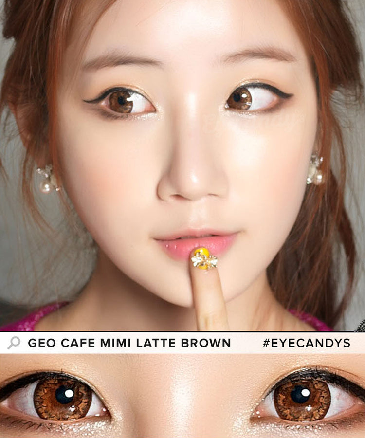 Buy GEO Cafe Mimi Latte Brown Colored Contacts | EyeCandys