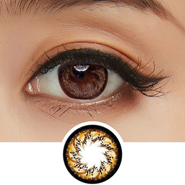 GEO Cafe Mimi Macchiato Brown colored contacts circle lenses - EyeCandy's
