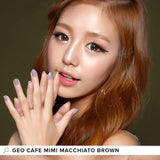 GEO Cafe Mimi Macchiato Brown 1 pair (2 lenses) - EyeCandy's