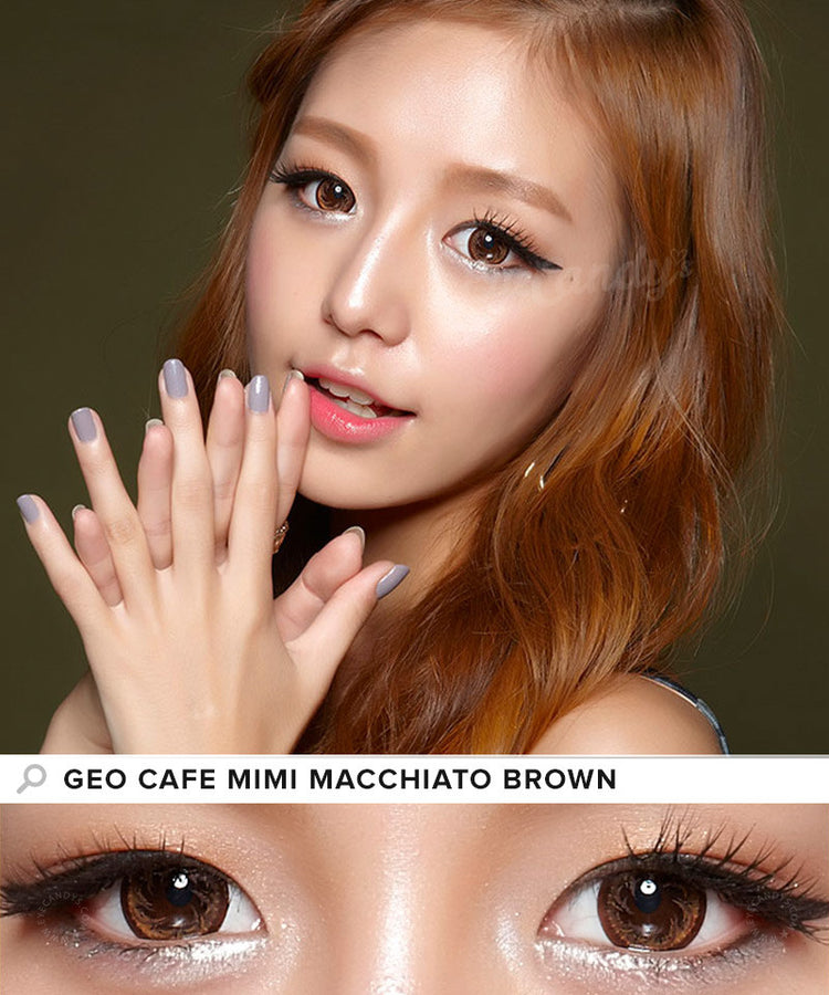 Buy GEO Cafe Mimi Macchiato Brown Colored Contacts | EyeCandys