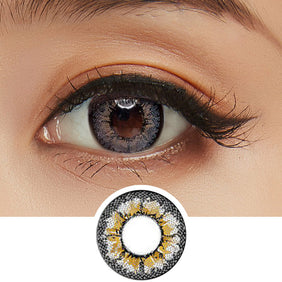 GEO Cafe Mimi Waffle Grey colored contacts circle lenses - EyeCandy's