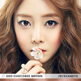 GEO Chocobee Brown 1 pair (2 lenses) non prescription - EyeCandy's