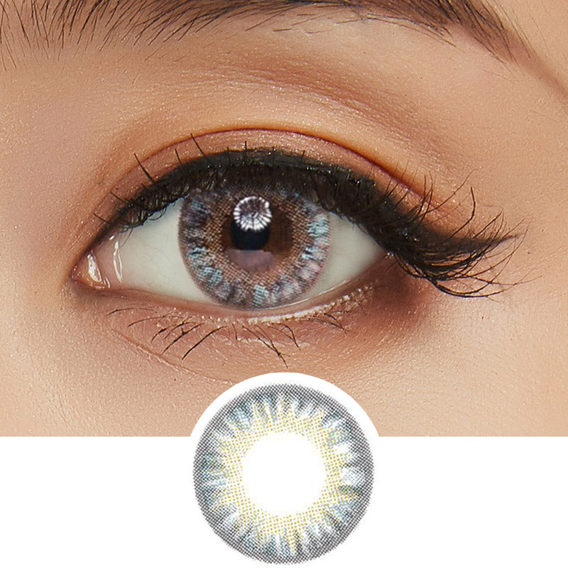 GEO Eyeniq 1-Day Blue-Grey (10pk) colored contact lenses - EyeCandys
