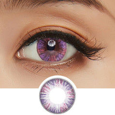 GEO Eyeniq 1-Day Pink-Violet colored contacts circle lenses - EyeCandy's
