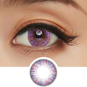 GEO Eyeniq 1-Day Pink-Violet colored contact lenses - EyeCandys
