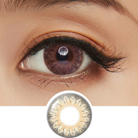 GEO Eyescream Vanilla Brown colored contact lenses - EyeCandys