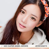GEO Super Angel Brown 1 pair (2 lenses) - EyeCandy's