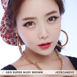 GEO Super Nudy Brown 1 pair (2 lenses) - EyeCandy's