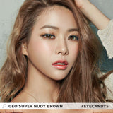 GEO Super Nudy Brown colored contacts circle lenses - EyeCandy's