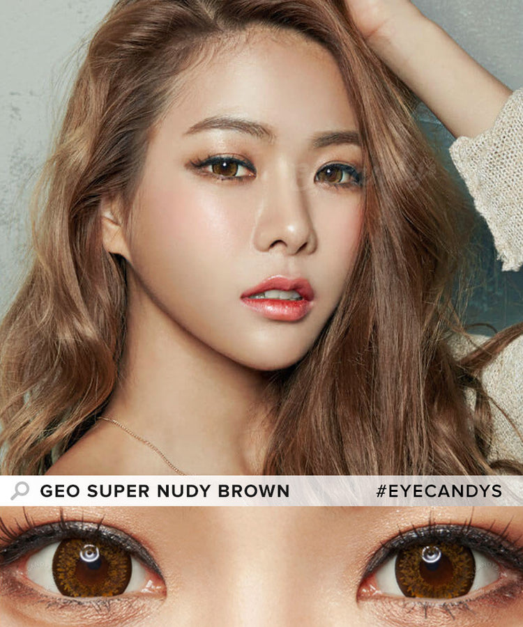 Buy GEO Super Nudy Brown Color Contacts | EyeCandys