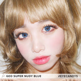GEO Super Nudy Blue 1 pair (2 lenses) non prescription - EyeCandy's