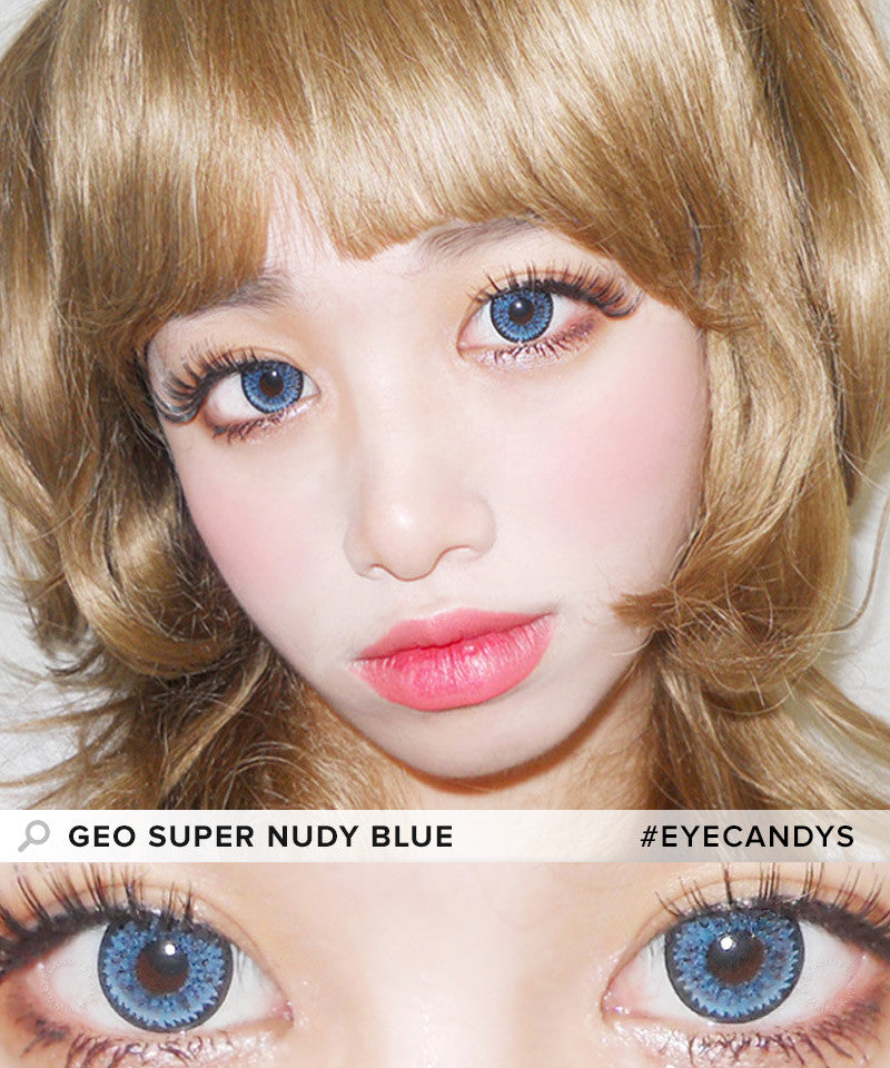 Buy GEO Super Nudy Blue Color Contacts | EyeCandys
