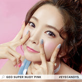 GEO Super Nudy Pink colored contacts circle lenses - EyeCandy's